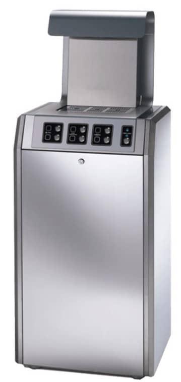 Fontaine à eau filtrée d'intérieur haut de gamme ecomagna. Elle est fabriquée entièrement en acier inoxydable et distributeur de l'eau plate ou gazeuse, fraîche, tempérée ou chaude.