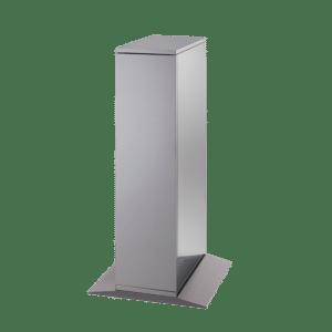 Armoire sur sol pour la fontaine à eau filtrée ecosoda, version acier inoxydable