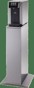Fontaine à eau filtrée sur sol pour bureau, entreprise ou société belge ecosoda. Elle distribue de l'eau plate ou pétillante, fraîche, tempérée ou chaude et zéro déchet. Elle est équipée de filtre à eau performants.